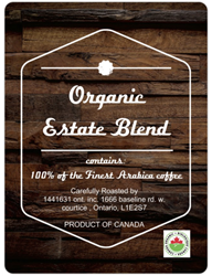1 Lbs. Organic Estate Blend 1 Lbs. Estate Blend all Organic