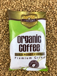 1 POUND GOLD ROAST COFFEE CERTIFIED ORGANIC S.A. Wilsons Gold Roast Coffee